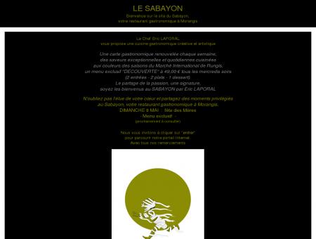 Restaurant gastronomique Le Sabayon-site...
