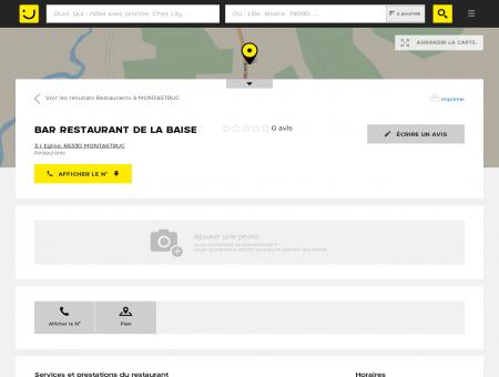 BAR RESTAURANT DE LA BAISE Montastruc...