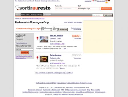 Restaurant Morsang-sur-Orge - Liste...