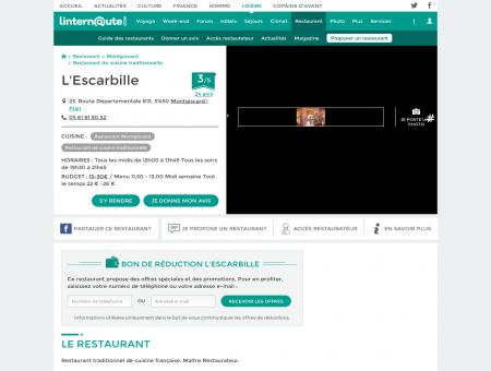L'Escarbille, restaurant de cuisine traditionnelle...