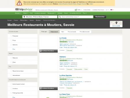 Les 10 meilleurs restaurants à Moutiers -...
