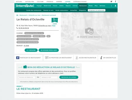 Le Relais d'Octeville, brasserie - bistrot à...