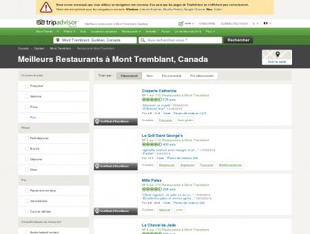 Les 10 meilleurs restaurants à Mont Tremblant...