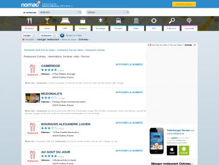 Restaurant Outreau : réservations, horaires,...