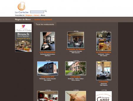 restaurants à Mons et environs - La-Carte.be