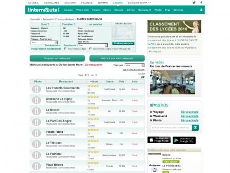 Restaurant Oloron Sainte Marie : Le guide des...