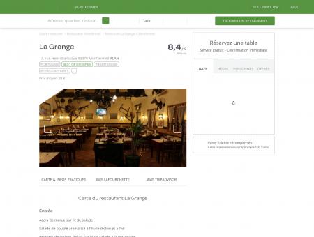 Restaurant La Grange à Montfermeil - menu,...