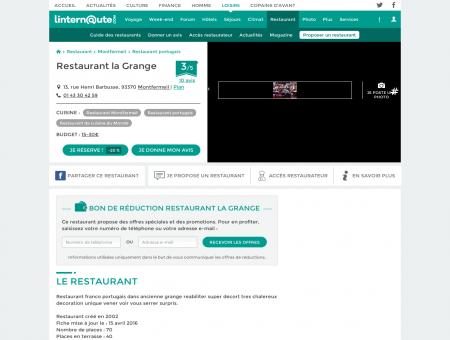 Restaurant la Grange, restaurant portugais à...