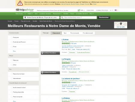 Les 10 meilleurs restaurants à Notre Dame de...