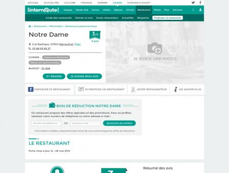 Notre Dame, restaurant gastronomique à...