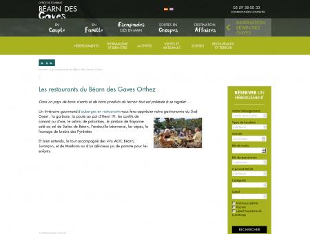 Les restaurants du Béarn des Gaves Orthez |...