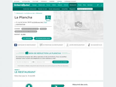 La Plancha, rôtisserie à La trinite sur mer, avec...
