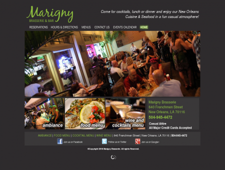 Marigny Brasserie - New Orleans Restaurant on Frenchmen ...