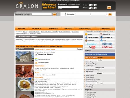 Restaurant La Vieille Poële Marigny restaurant...