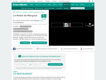 Le Relais de Margaux, restaurant...