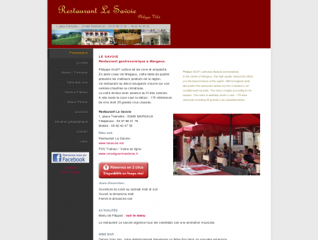 Restaurant LE SAVOIE à MARGAUX (Gironde,...