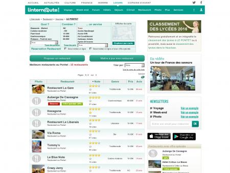 Restaurant Le Pontet : Le guide des meilleurs...