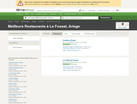 Les meilleurs restaurants à Le Fossat -...