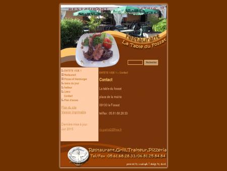Restaurant la table du fossat - Contact