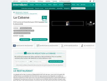 La Cabane, restaurant de poissons - fruits de...