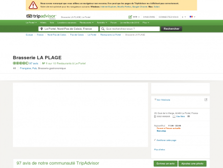 Brasserie LA PLAGE, Le Portel - Restaurant...