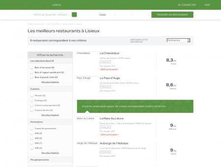 Restaurants Lisieux - Meilleurs restaurants de Lisieux.