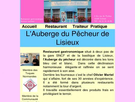 Site du restaurant l'auberge du pêcheur à...