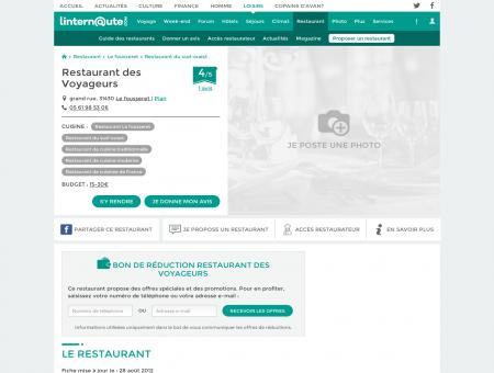 Restaurant des Voyageurs, restaurant de...