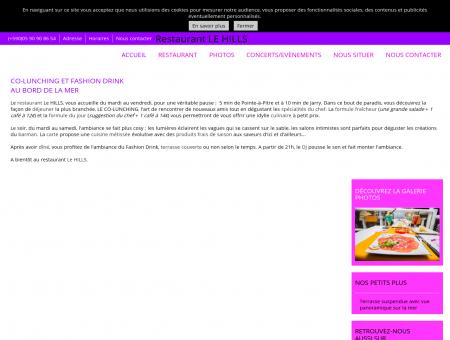 Restaurant Le HILLS au Gosier en Guadeloupe