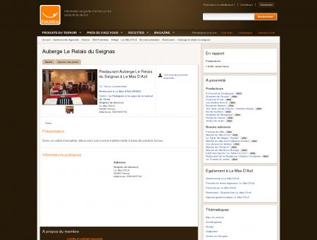 Restaurant Auberge Le Relais du Seignas Le...
