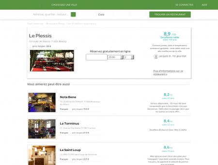 Restaurant Le Plessis   le-plessis.lafourchette.com