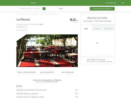 Restaurant Le Plessis à Blanzy - menu, avis,...