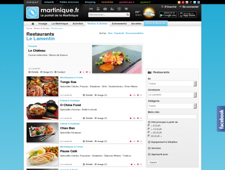 Restaurants - Le Lamentin - martinique.fr