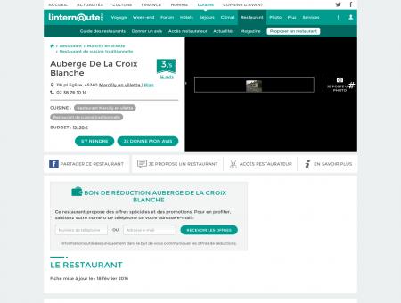 Auberge De La Croix Blanche, restaurant de...