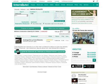 Restaurant Marcilly En Villette : Le guide des...