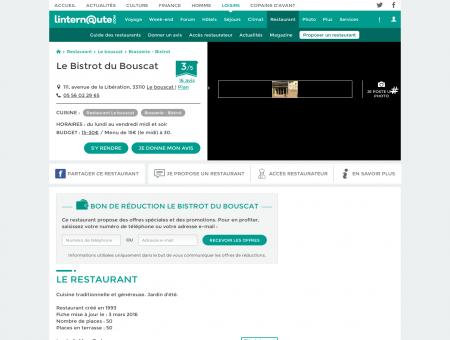 Le Bistrot du Bouscat, brasserie - bistrot au...