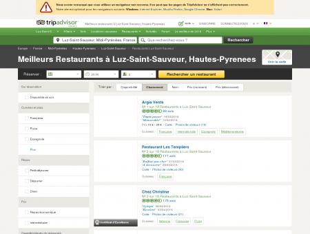 Les 10 meilleurs restaurants à Luz-Saint...