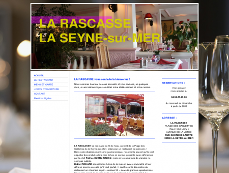 LA RASCASSE / ACCUEIL