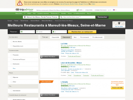 Les 10 meilleurs restaurants à Mareuil-lès...