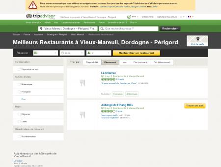 Les meilleurs restaurants à Vieux-Mareuil -...
