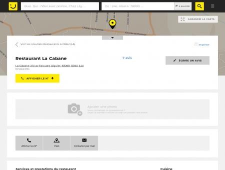 Restaurant La Cabane La Crau (adresse, avis)