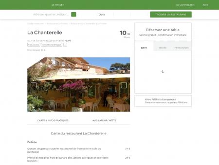Restaurant La Chanterelle à Le Pradet - menu,...
