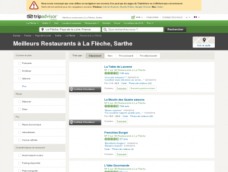 Les 10 meilleurs restaurants à La Flèche -...