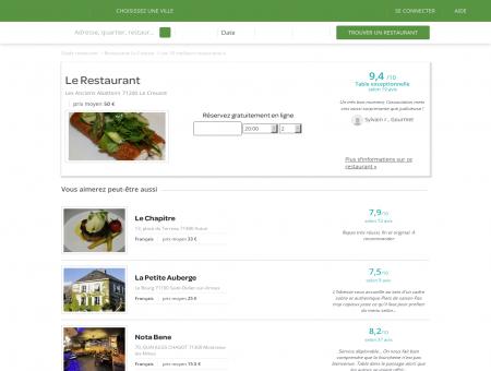 Le Restaurant | LeRestaurant.LaFourchette.com