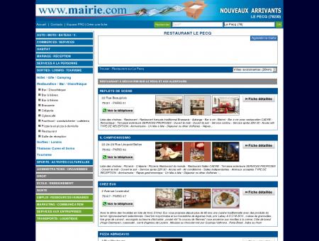 Restaurant Le Pecq : Mairie.com