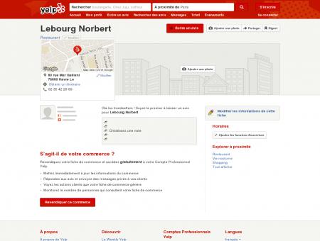 Lebourg Norbert - Restaurant - Havre Le,...