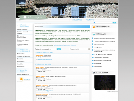 Moudeyres : site de la commune
