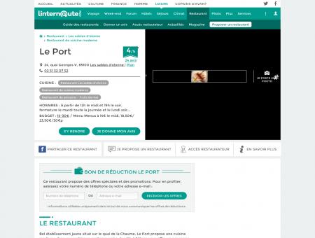 Le Port, restaurant de cuisine moderne à Les...