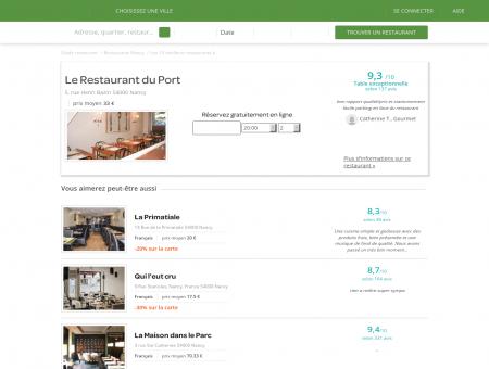 Le Restaurant Du Port | nancy.lafourchette.com