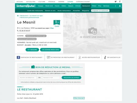 Le Mesnil, restaurant gastronomique au...